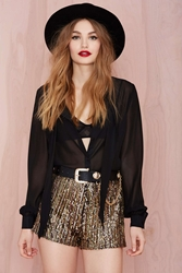 Nasty Gal Flashing Out Sequin Hot Pants