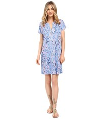Lilly Pulitzer Duval Dress Multi Tic Tac Tile All Over Women's Dress Blue