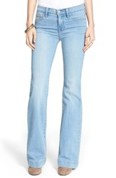 Women's Free People Stretch Mid Rise Flare Jeans Marlin
