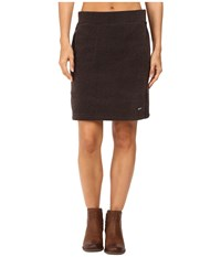 Woolrich Double Creek Fleece Skirt Black Women's Skirt