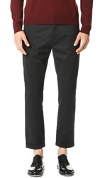 Marni Slim Cropped Sanded Twill Trousers Black