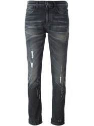 Gucci Stone Washed Ripped Jeans Grey