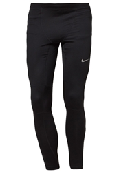 Nike Performance Running Essential Tights Black Reflective Silver