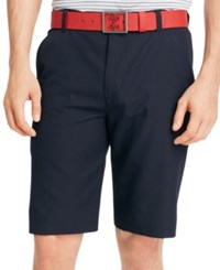 Izod Solid Flat Front Golf Shorts Midnight