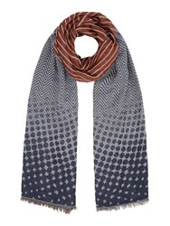 Dickins And Jones Double Border Spot Print Scarf Multi Coloured Multi Coloured