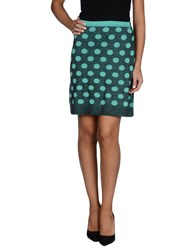 Fabrizio Del Carlo Skirts Knee Length Skirts Women Turquoise