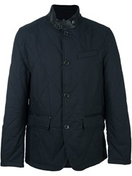 Michael Kors Band Collar Padded Jacket Blue