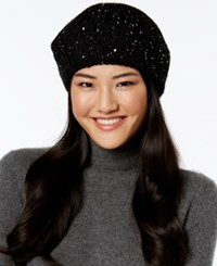 Inc International Concepts Marled Galaxy Beret Only At Macy's Black