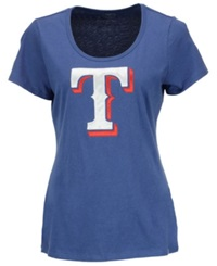 '47 Brand Women's Texas Rangers Relaxed T Shirt Royalblue