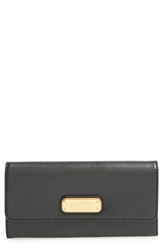 Marc By Marc Jacobs 'New Q Long' Trifold Wallet Black