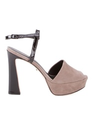 Osklen Chunky Heel Sandals Nude And Neutrals