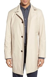 Men's Boss Trim Fit Cotton Blend Raincoat Medium Biege