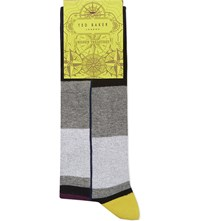 Ted Baker Striped Cotton Socks Black