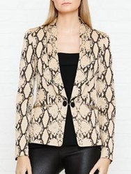 Just Cavalli Snake Print Blazer Cream