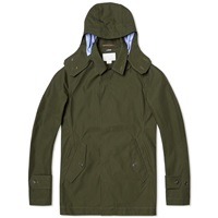 Nanamica Gore Tex Short Soutien Collar Coat Moss Green
