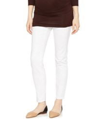 A Pea In The Pod's Maternity Skinny Jeans White Wash