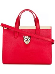 Philipp Plein Large 'Duchesse' Tote Red