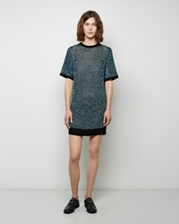 Public School Pointelle Tee Dress Black And Teal