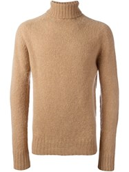 Ymc Classic Turtleneck Jumper Nude And Neutrals