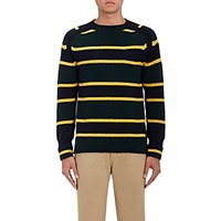 Sacai Men's Striped Wool Sweater Green