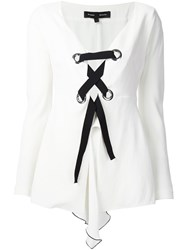 Proenza Schouler Corset Detail Skirted Top White