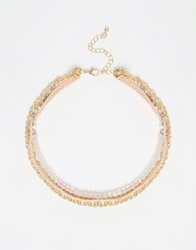 New Look Choker Multipack Necklace Pink