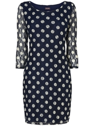 Phase Eight Spot Lace Tunic Navy