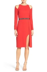 Halston Women's Heritage Belted Crepe Sheath Dress