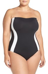 Lablanca Plus Size Women's La Blanca Block My Way One Piece Swimsuit