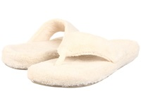 Acorn New Spa Thong Natural Fabric 270 Women's Slippers White
