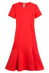 Mcq By Alexander Mcqueen Flared Dress Red