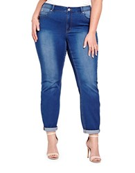 Addition Elle Plus Dark Wash Soft Jegging Blue Blast