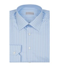 Stefano Ricci Striped Shirt Male Blue
