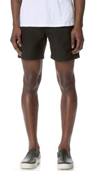 Shades Of Grey Cargo Shorts Black Textured Woven