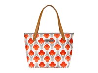 Petunia Pickle Bottom Glazed Downtown Tote Mini Brittany Blooms Tote Handbags Orange