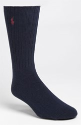 Men's Polo Ralph Lauren Crew Socks Blue Navy