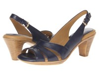 Softspots Neima Navy Velvet Sheep Nappa Women's Dress Sandals Black