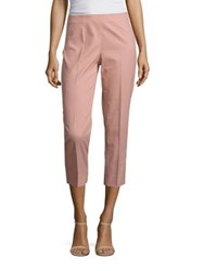 Piazza Sempione Cotton Blend Cropped Pants Red White