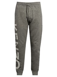 Kenzo Logo Print Cotton Track Pants Grey