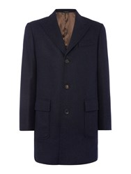 Chester Barrie Wool Coat Blue