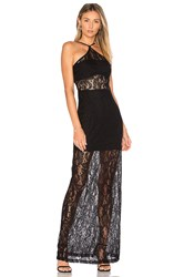 Wyldr Bedroom Eyes Maxi Dress Black