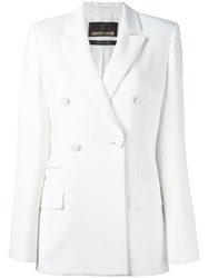 Roberto Cavalli Double Breasted Blazer White