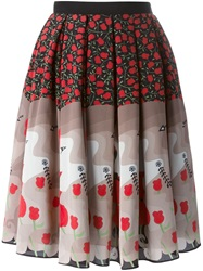 Holly Fulton Printed Skirt Red