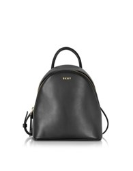 Dkny Greenwich Black Smooth Leather Small Backpack