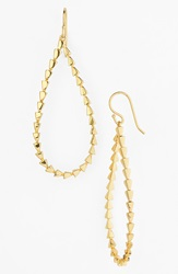 Melinda Maria Open Teardrop Pyramid Earrings Gold