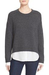 Brochu Walker Women's Wool And Cashmere High Low Sweater