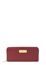 Marc By Marc Jacobs New Q Burgundy Pebbled Leather Wallet