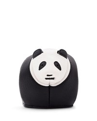 Loewe Leather Panda Coin Purse Black White Black White