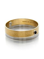 Marc By Marc Jacobs Cabochon Delicate Keyhole Bangle Gold