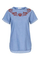 Embroided Denim T Shirt By Glamorous Blue